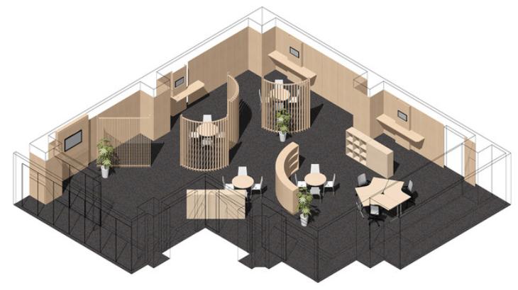 バルテック、木調オフィス・スマートロック対応の会議室に「EDO会議室」 リリース